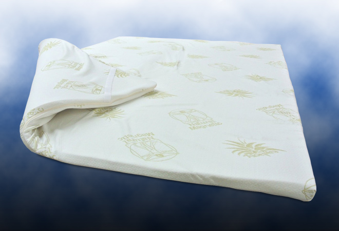 Pad Topper in memory con aloe