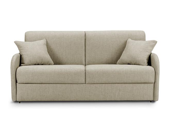 Divano letto con materasso memory da 160 tessuto marrone - Divano letto 160x190 ...