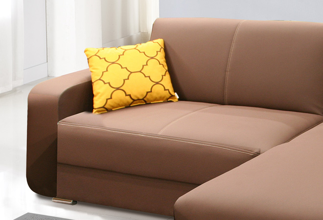 Divani letto con penisola consegna gratuita - Cuscini quadrati per divani ...