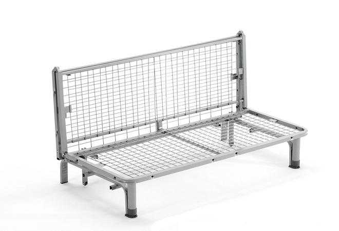 Divano pronto letto da una piazza e mezzo offerta ecru| Materassi.com