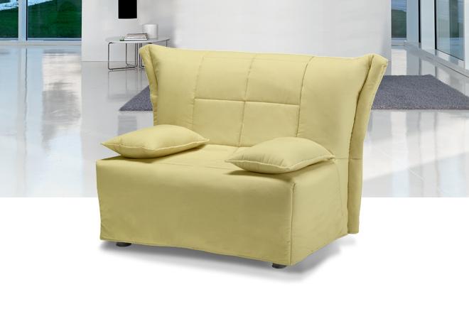 Divano letto sfoderabile si trasforma in letto singolo - Divano letto blu ...