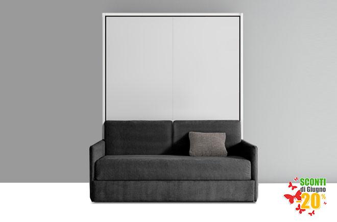 Letto a scomparsa con divano consegna 4 giorni - Soggiorno con letto a scomparsa ...