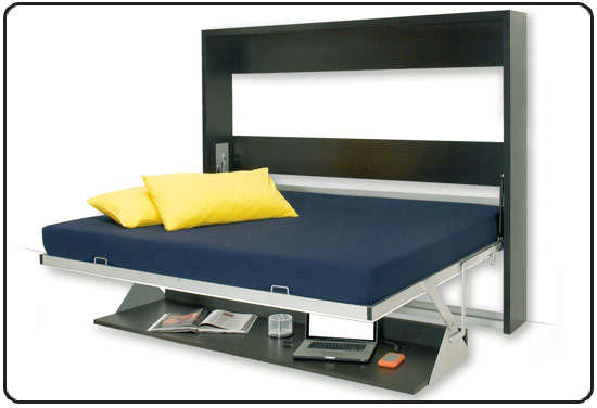 Letto a scomparsa matrimoniale con mobile e libreria ebay for Mondo convenienza letti a scomparsa