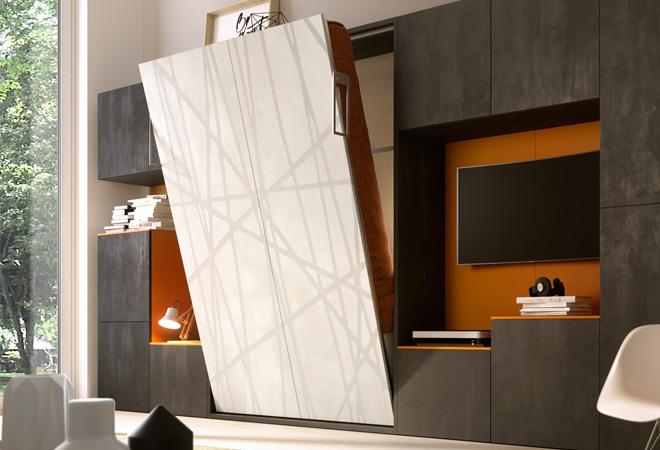 Mobile letto a scomparsa caravaggio 160 apertura verticale ebay - Letto a scomparsa verticale ...