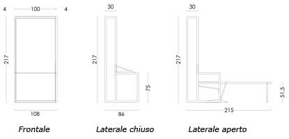 Letti a scomparsa autoportante verticale, Offerte| Materassi.com