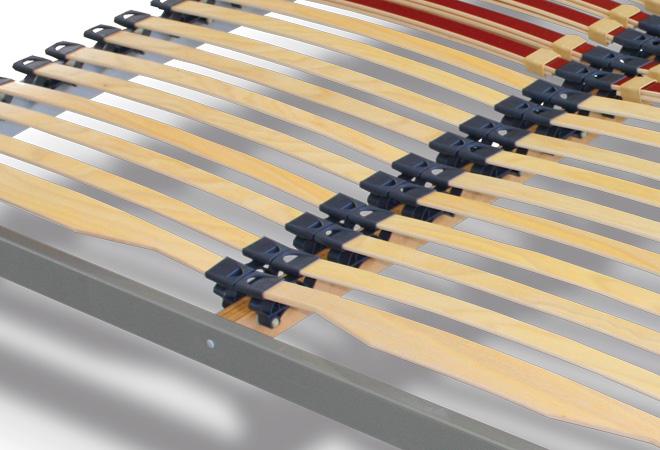Rete in legno con telaio color alluminio con doghe basculanti