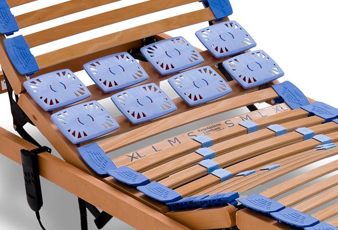rete in legno motorizzata con regolatori di rigidità