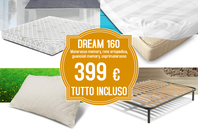 Kit set pacchetto Offerta Dream 160